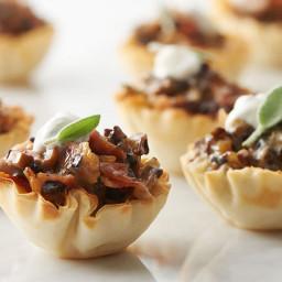 Pancetta and Mushroom Phyllo Cups