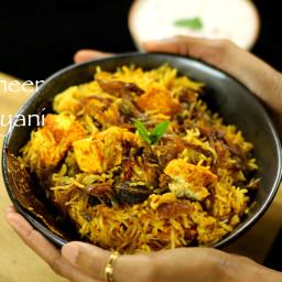 paneer biryani recipe | easy paneer biryani recipe