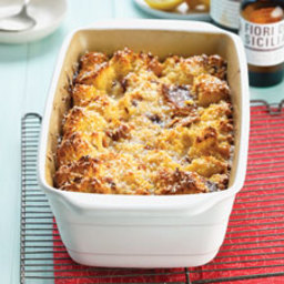 Panettone Bread Pudding with Lemon Filling