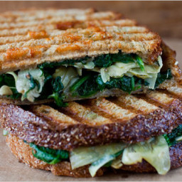 Panini With Artichoke Hearts, Spinach and Red Peppers