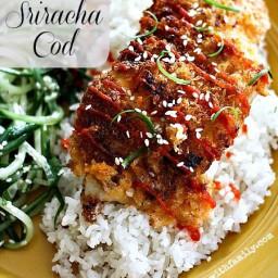 Panko Crusted Sriracha Cod