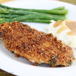 Panko Crusted Turkey Cutlets and Greens