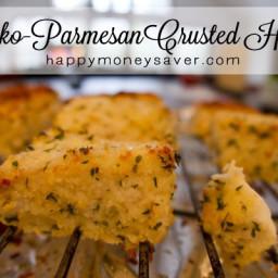 Panko-Parmesan Crusted Halibut