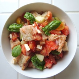Panzanella with Tomatoes & Cucumber