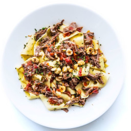 Pappardelle with Pork Sugo and Hazelnuts