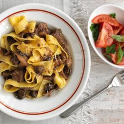 Pappardelle with slow-cooked beef and mushrooms
