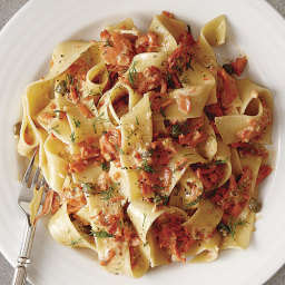 Pappardelle with Creamy Smoked Salmon, Caper, and Dill Sauce