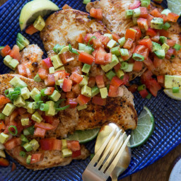 Paprika Grilled Chicken with Avocado Salsa