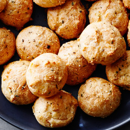 Parmesan and Herb Cheese Puffs