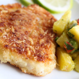 Parmesan and Panko-Crusted Swai