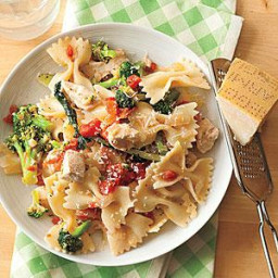 Parmesan Chicken with Bow Ties