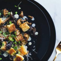 Parmesan Gnocchi with Mushrooms and Truffle Cream