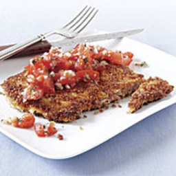 Parmesan-Panko Steaks with Fresh Tomato Salsa