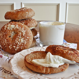 Parmesan Sprouted Wheat Bagels