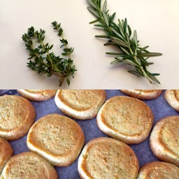 Parmesan, Thyme and Rosemary Shortbread