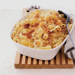 Parmigiano-Crusted Rigatoni with Cauliflower and Prosciutto