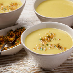 Parsnip and Cauliflower 'Vichyssoise' With Gremolata