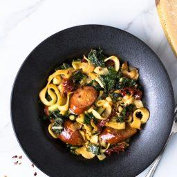 Parsnip Noodles with Turkey Kielbasa