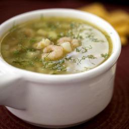 Parsnip-Potato Shrimp Soup