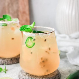 Passion Fruit Lime Margarita Cocktail
