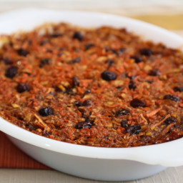 Passover Carrot-Apple Pudding