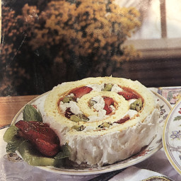 Passover Strawberry-Kiwi Sponge-Cake Roll