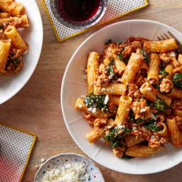 Pasta & Chicken Bolognese with Kale & Parmesan Cheese