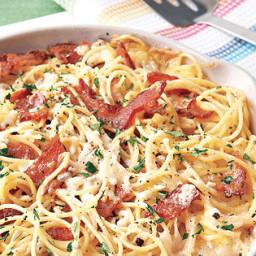 Pasta Carbonara Frittata