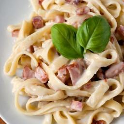 Pasta Carbonara Recipe Card