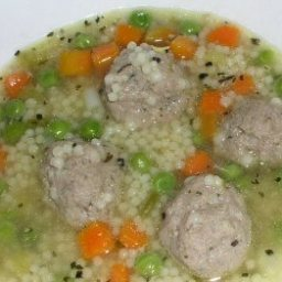 Pasta Chicken Meatball Soup