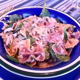 Pasta- Wild Mushroom, Chicken and Spinach Farfalle