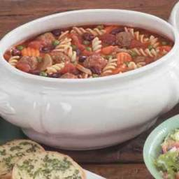 Pasta Meatball Soup Recipe