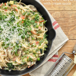 Pasta Primavera with Cream Sauce