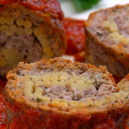 Pasta-Stuffed Meatloaf Roll