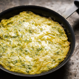 Pasta, Thyme and Parmesan Frittata