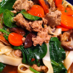 Pasta - Udon Beef Spinach Bowl