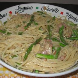 Pasta with Asparagus and ham