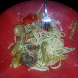 Pasta with Asparagus, Shiitake Mushrooms, and Lemon