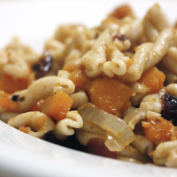 Pasta with Butternut Squash and Dried Cranberries