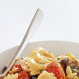 Pasta with Kalamata Olives and Roasted Cherry Tomato Sauce