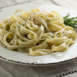 Pasta with Lemon Blue Cheese Rosemary Sauce