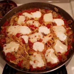 Pasta with ricotta & artichokes