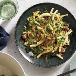 Pasta With Sausage, Arugula, and Bread Crumbs