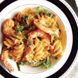Pasta with Shrimp in Tomato Cream recipe | Epicurious.com
