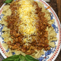 Pasta with Ground Turkey Meat Sauce