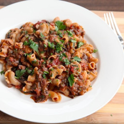 Pasta With Rich and Hearty Mushroom Bolognese