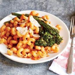 Pasta with Romesco and Garlic Broccolini