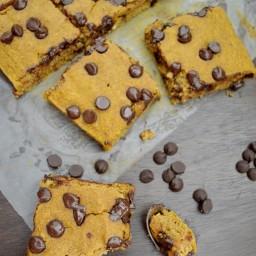 Pastel de calabaza con chocolate (sin gluten y lácteos)