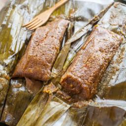 Pasteles de Masa con Cerdo (Puerto Rican Taro Root and Plantain Pork Pocket