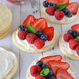 Patriotic Fruit Pizzas